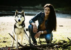 Frau_und-Husky- 04